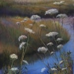 "Marsh and Queen Anne's Lace - 29"" x 21"" - Image"