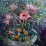 "Spring Flowers - 12"" x 12"""