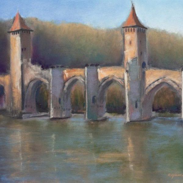 "Cahors Bridge - 9"" x 11"""